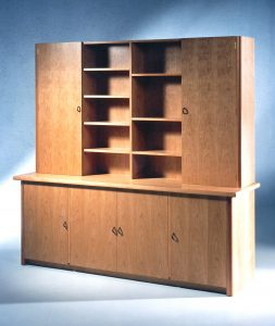 Cherrywood-Cabinet-And-Bookcase