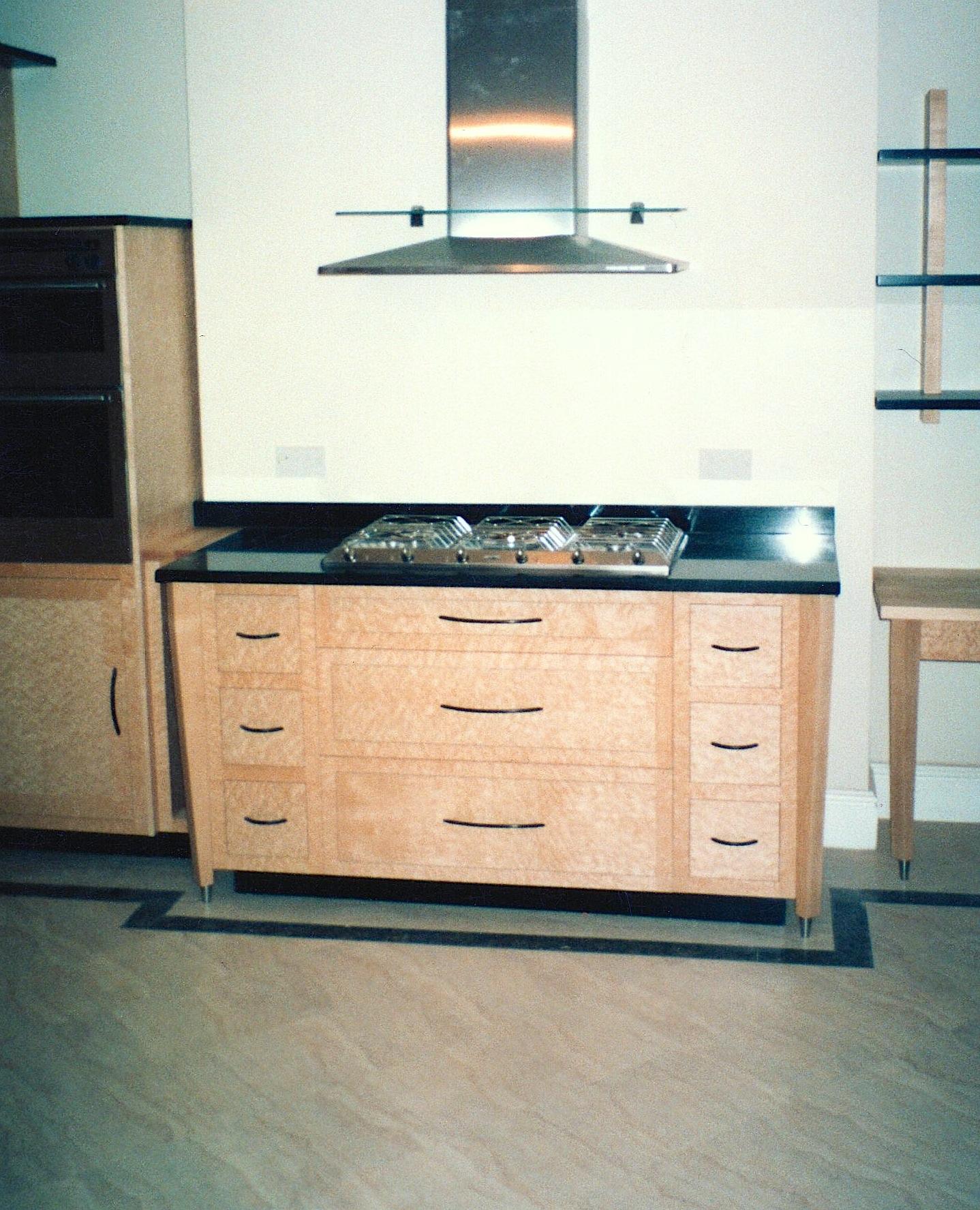 Birds-Eye-Maple-And-Granite-Kitchen