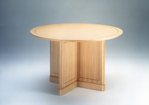 Ash-And-Walnut-Inlaid-Table
