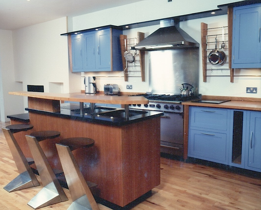 Cherrywood-And-Painted-Kitchen