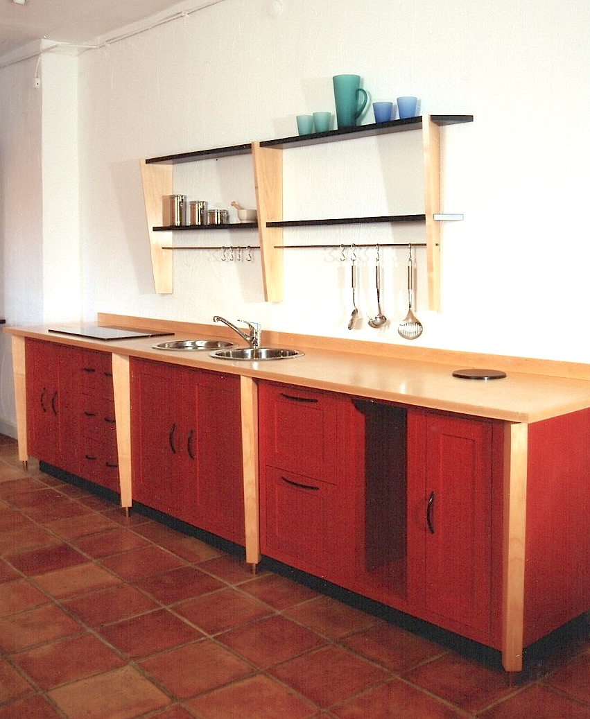 Maple-And-Red-Laquer-Kitchen