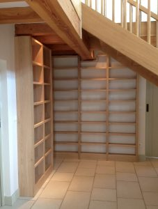 Fitted-Oak-Bookcase