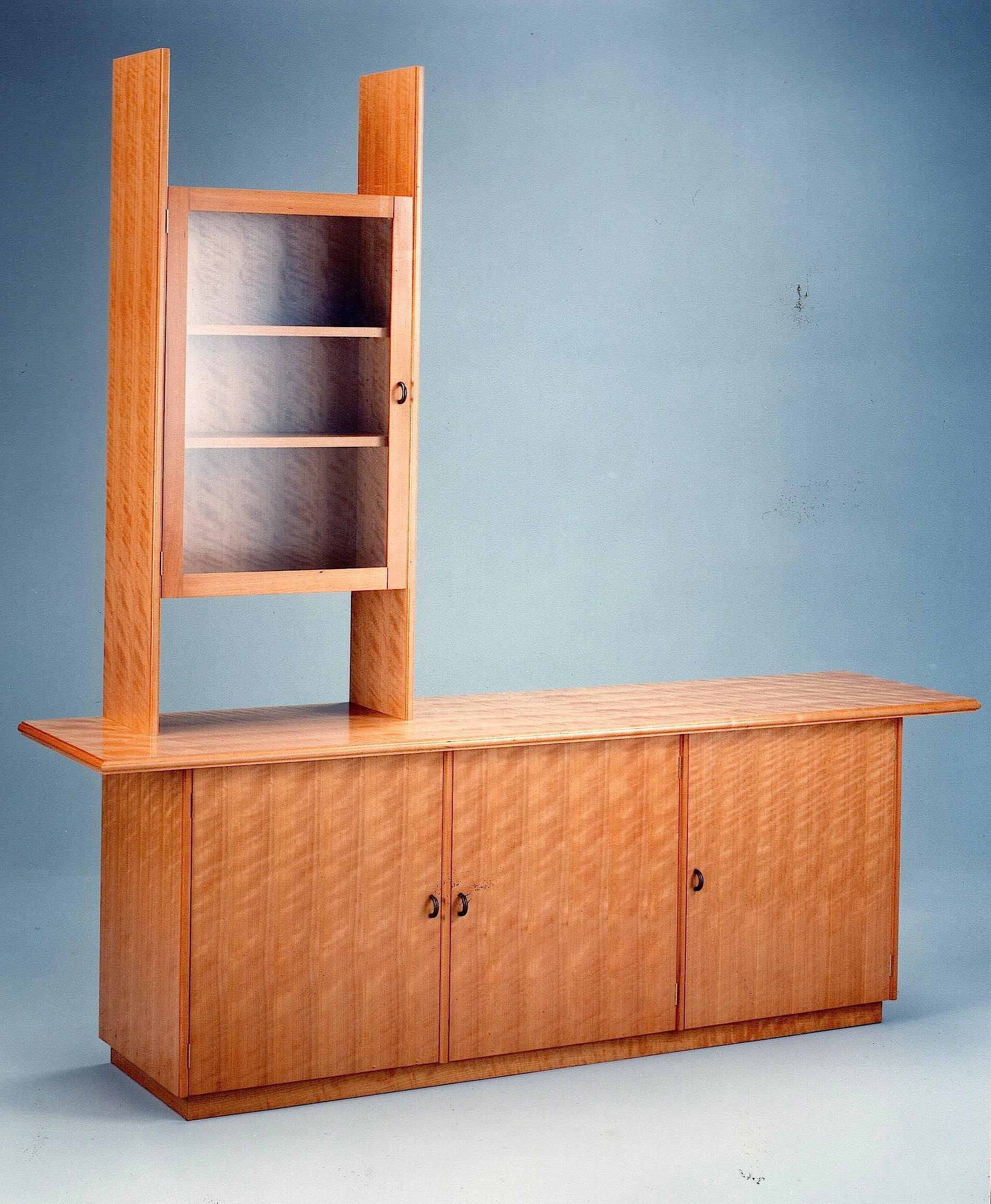 American-Cherry-Credenza-And-Bookcase