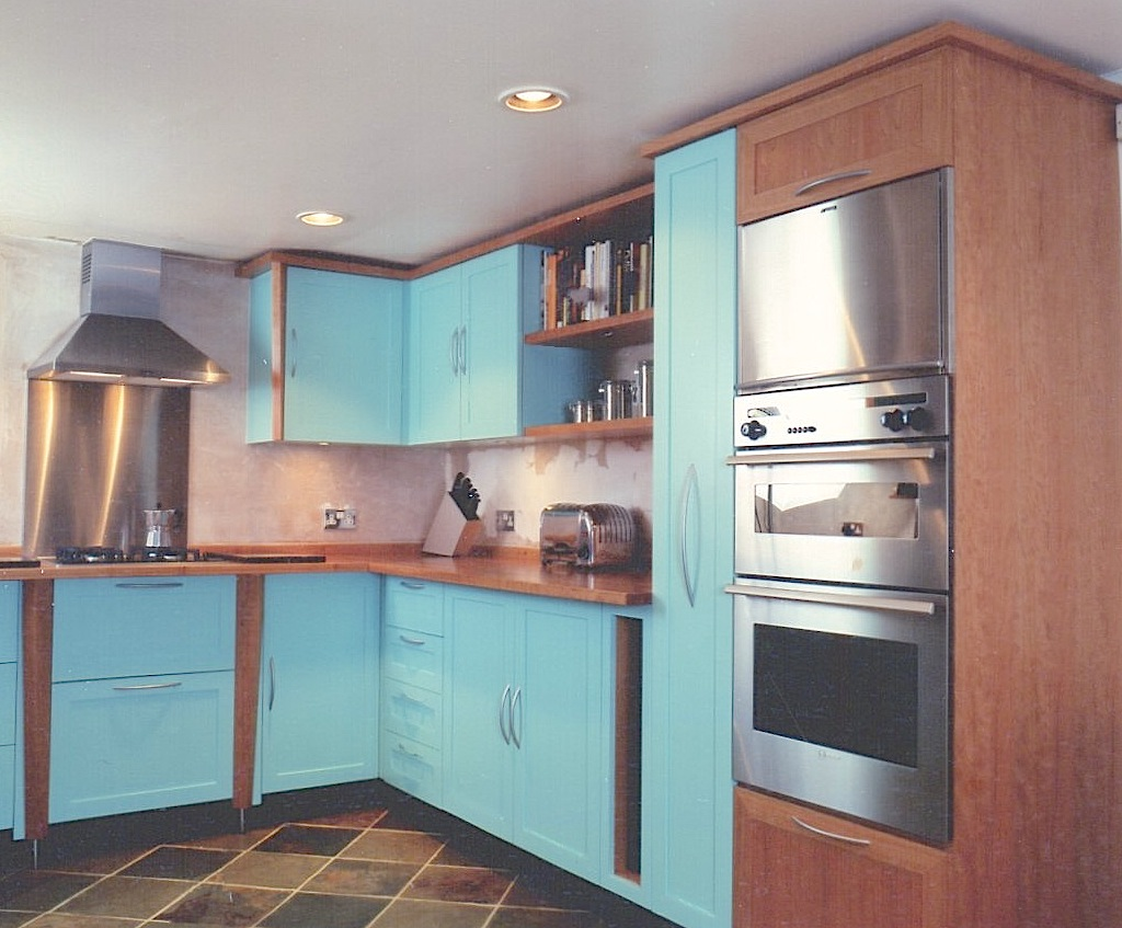 Cherrywood-And-Turquoise-Painted-Kitchen