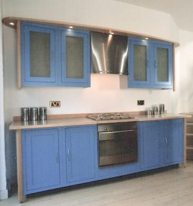 Maple-And-Blue-Laquered-Kitchen