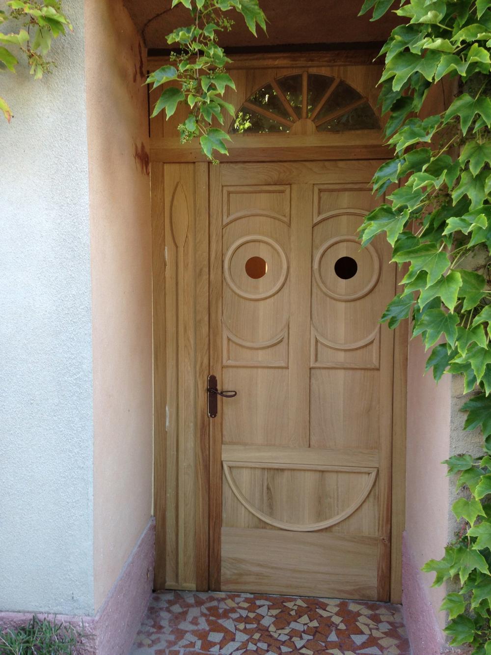 African Mask Door